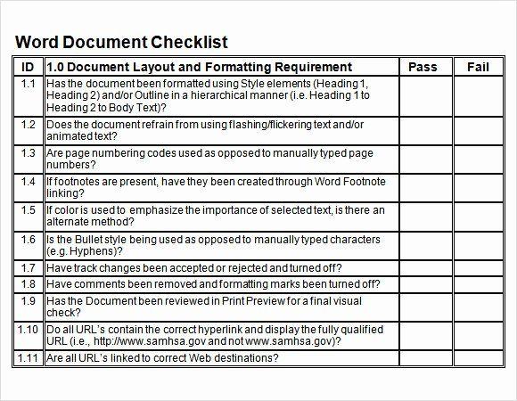 Check Template For Word Elegant Sample Blank Checklist Template 27 Documents Download Checklist Template Word Template Words