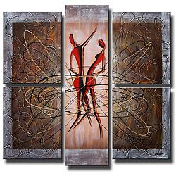 'Dancing in the Wind' 5-piece Canvas Art Set