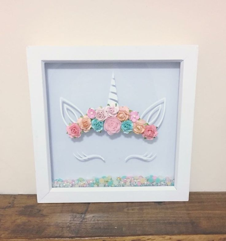 unicorn frame 3d paper flower unicorn frames available now