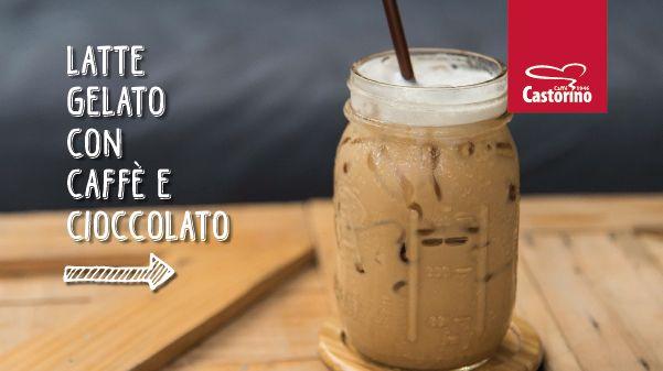 Latte gelato con caffè e cioccolato