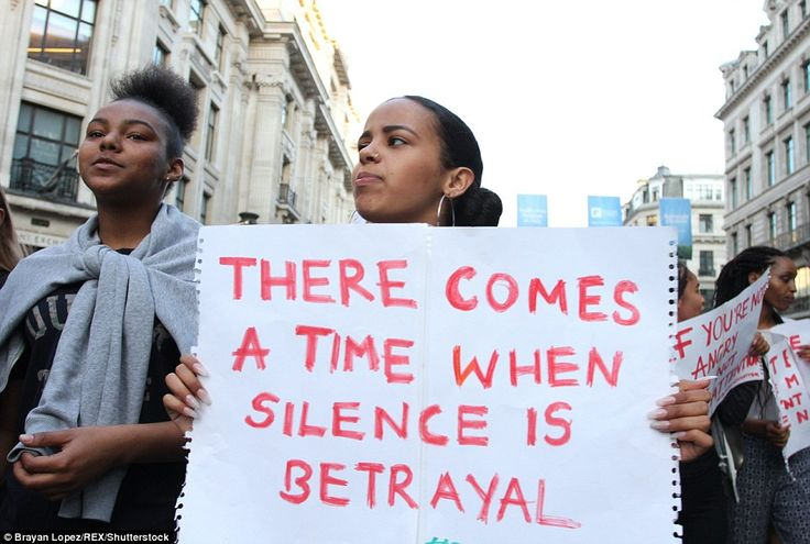 There is a time when silence is betrayal. Protest