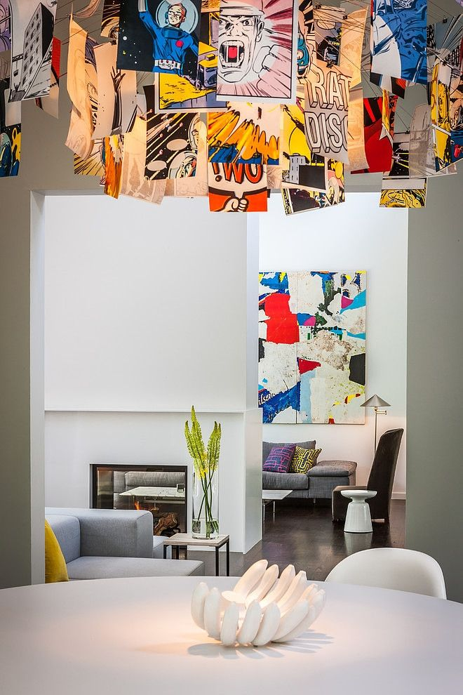 Bayview Court by KICK Interiors - love the light fixture (possibly art mobile for bambino)