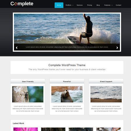 Complete Free Business & Portofolio Wordpress Theme