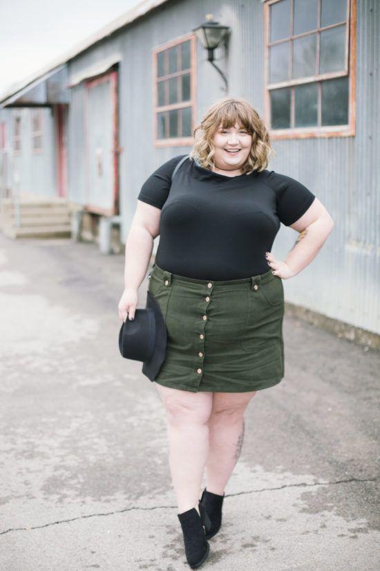 Plus Size Mini Skirts - Maximum Style - Fat Girl Flow