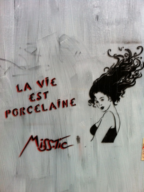 Paris street art for chicks. #urbamedia