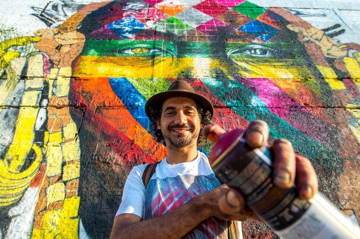Esse trabalho vem de uma série de outros murais que tenho feito sobre a paz. Venho buscando conscientizar o mundo a respeito da necessidade de mais união entre os povos
