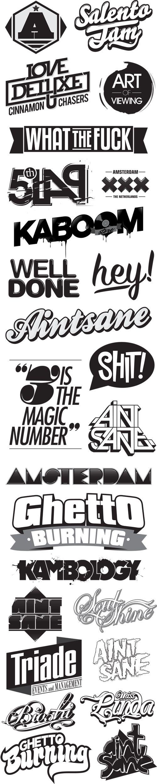 lots of typographic logos