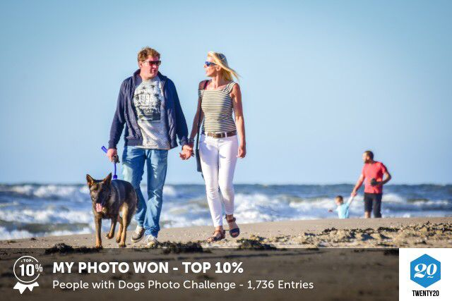My photo was picked in the Top 10% in the People with Dogs challenge on @twenty20app.