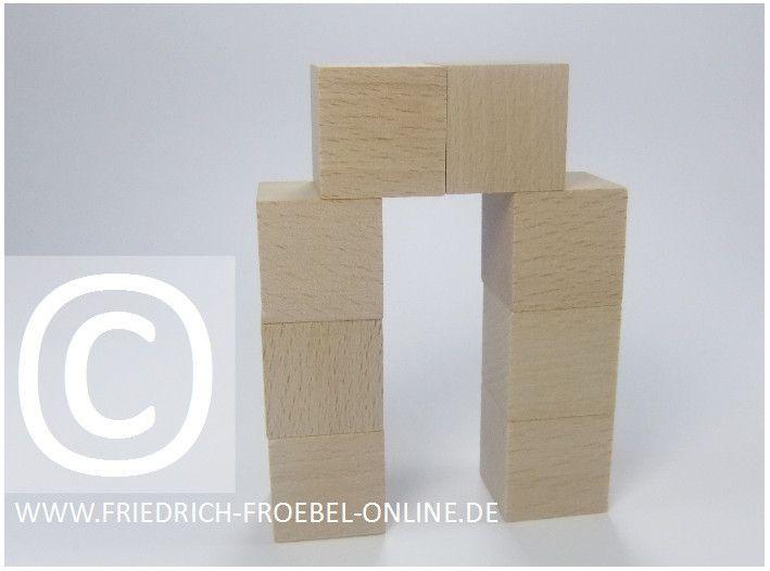 Gift 3 Froebel:  Spielgaben: Tür aus Holzbausteinen der Spielgabe 3 nach Froebel