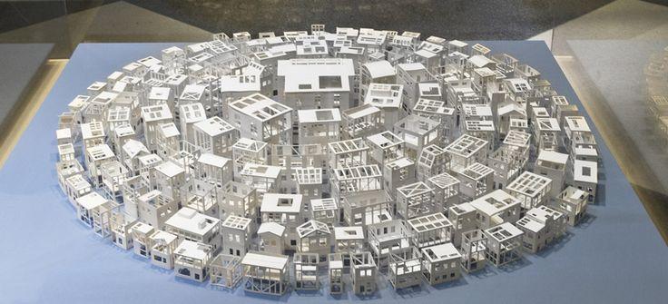 paper architecture exhibition in paris, designboom