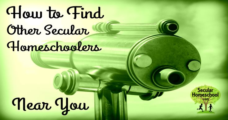 Advice and tips for locating other secular homeschoolers near you - - even when you're sure they must not exist!
