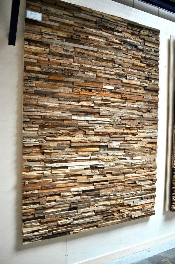 Breng de natuur in huis met decoratieve wandpanelen in hout, kokos, leer of mos via www.stijlidee.nl