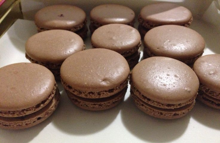Chocolate french macarons with chocolate ganache | Baking | Pinterest ...
