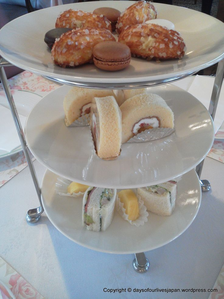 Afternoon tea served at a maternity hospital / ladies clinic in Saitama Japan.