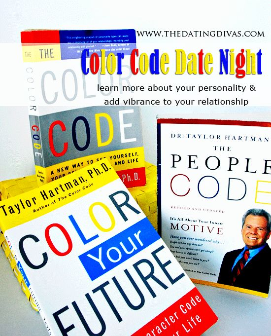 sarina color code books interesting date night about our personalities - Color Code Book
