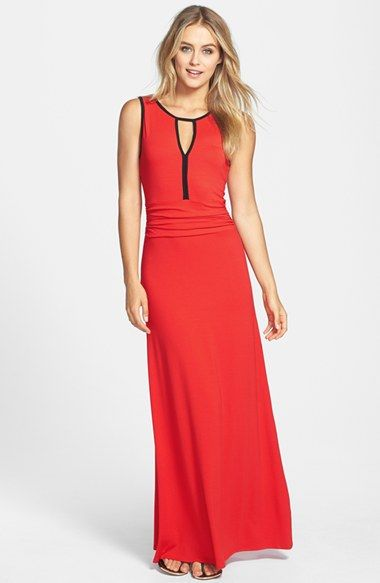 Vince Camuto Contrast Trim Maxi Dress available at #Nordstrom