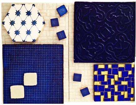 #DomenicoMori #MoriDomenico Profondo blu. Decoro uncinetto, pixel, mosaici e arabesque su base small tetris B1 white. Piastrelle interamente lavorate a mano per rivestimenti e pavimentazioni. *** Deep blue. Motif uncinetto, pixel, mosaics and arabesque on base small tetris B1 white. #Handmade #tiles #madeinItaly for floors and walls. #blue #white