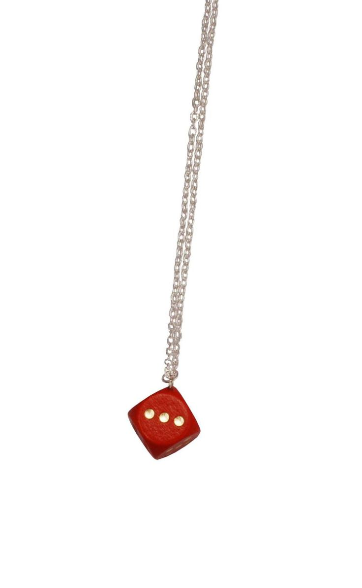 A personal favorite from my Etsy shop https://www.etsy.com/se-en/listing/227303761/yatzy-necklace-red-dice-necklace-wood
