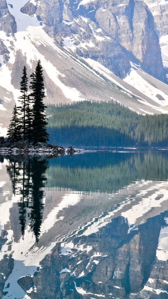 Moraine Lake Rocky Mountains Canada. Been here in summer, majestic and beautiful, like most of the Rockies!