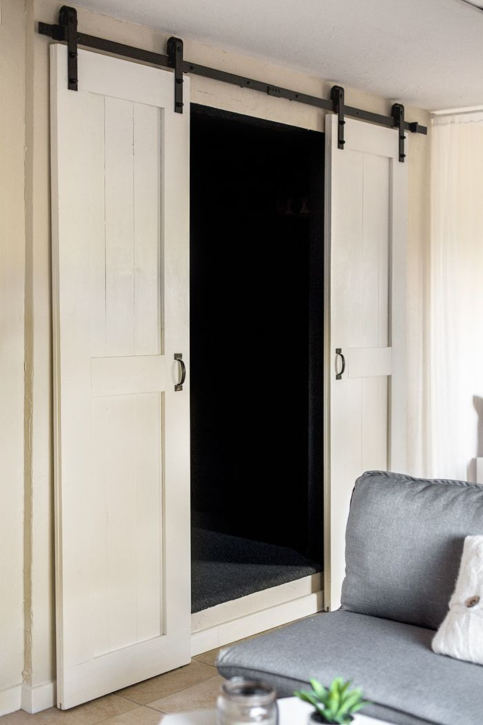25 best ideas about barn door closet on pinterest diy for Sliding double doors