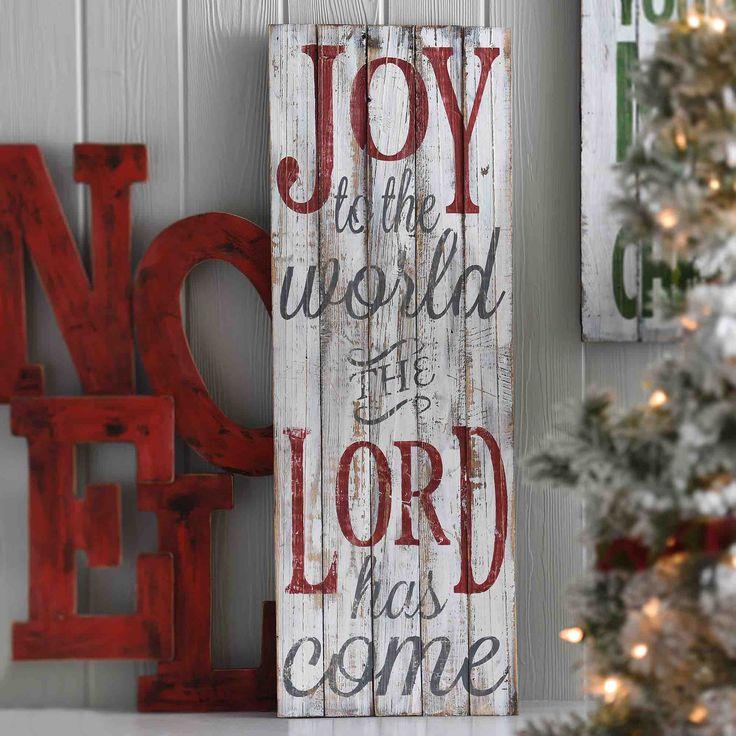 Surround yourself with the best of Kirkland's Christmas decor in your family's decor style. The 'Joy to the World Wood Wall Plaque' displays a favorite message while maintaining the season's vintage charm!