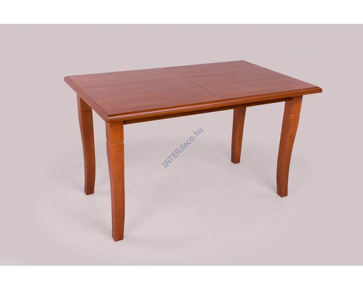 Laminált MDF asztallap amely 40 cm - el hosszabbítható. Pácolt, lakkozott bükkfa