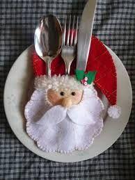 Resultado de imagem para enfeites de natal em feltro para mesa