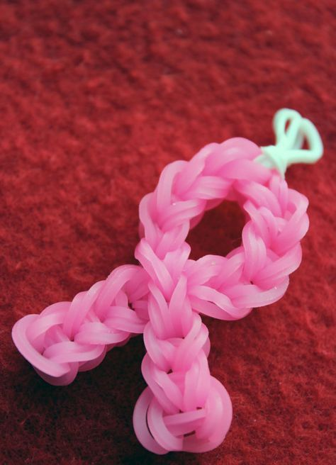 Rainbow Loom Rubber Band Earrings or Charm  by TheBigPurplePenguin, $6.99