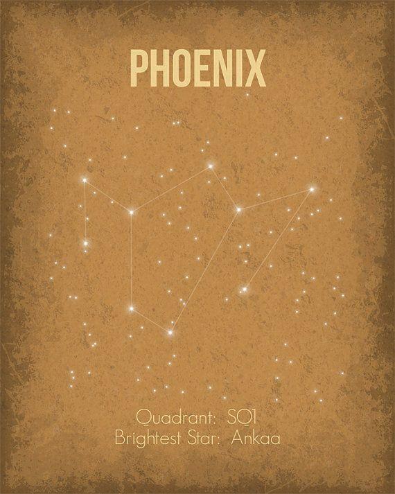 Constellation Poster Phoenix Wall Art Print par GetYourNerdOn