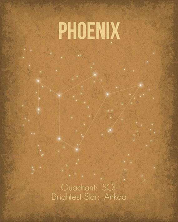 Constellation Poster Phoenix Wall Art Print par GetYourNerdOn