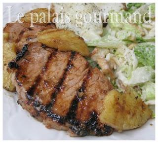 Le palais gourmand: Côtelettes de porc barbecue à l'ananas