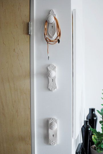 Turn Vintage Knobs Into Decorative Hooks