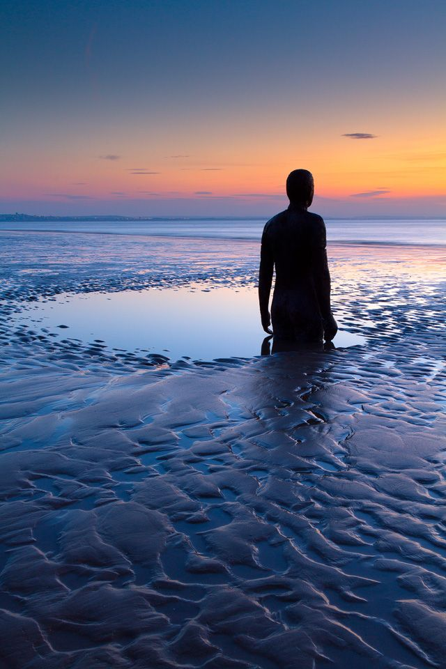Another Place by artist Antony Gormley via  http://www.thisiscolossal.com