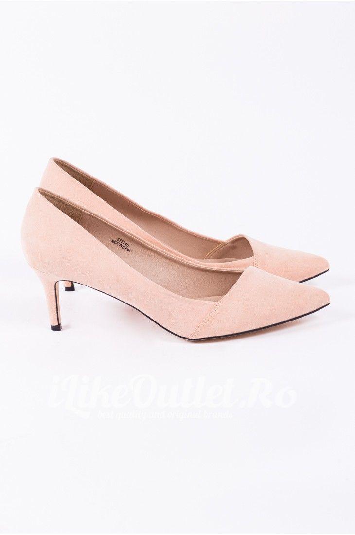 Pantofi roz pal cu toc ASOS