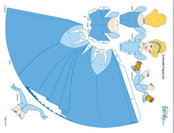 Cinderella Paper Doll Золушка бумажная кукла