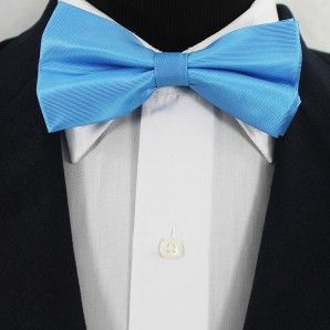 Cornflowerblue Bow Tie Set / Wedding Bow Tie Set