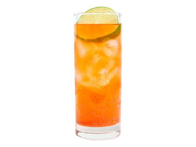 The Aperol Spritz is a bit more adult than a soda, but still sweet and friendly, orange-and-rhubarb flavored with just a hint of grapefruit-rind bitterness.