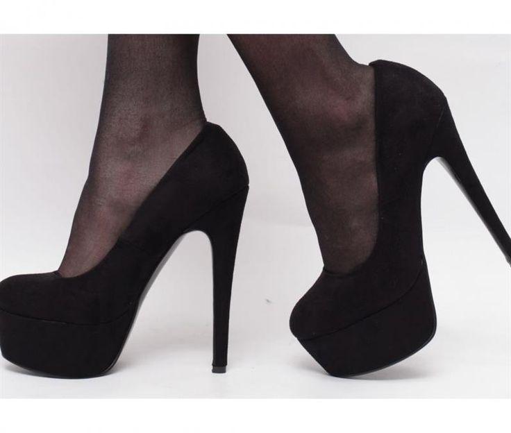 Туфли замшвые на металической шпильке