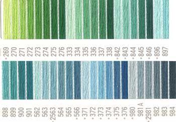 コスモ刺しゅう糸 25番 グリーン色系 ルシアン 国産刺繍糸