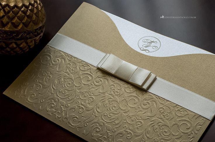 14 best images about convites on pinterest santa cruz wedding convite de casamento textura do relevo seco deixa o material fino e sofisticado stopboris Images