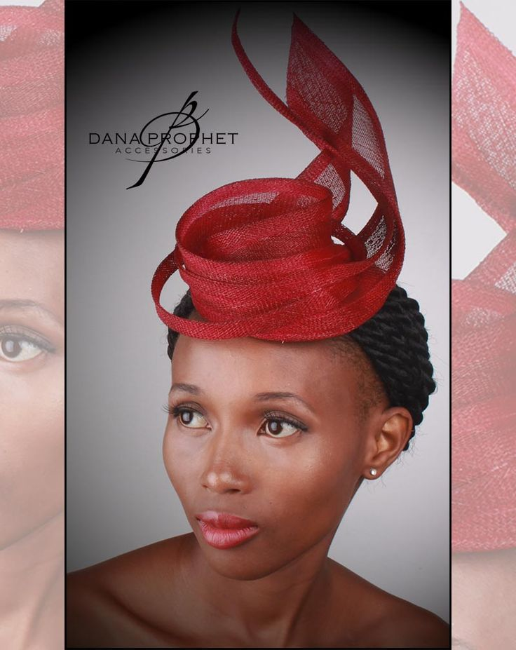 Red Twist Sinamay Fascinator. Add a touch of class with the elegant fascinator. https://danaprophetaccessories.com/fascinators/red-twist-sinamay-fascinator/  In South Africa? Go to @desch_luxury_wear in Sandton City to see even more fascinators!  http://www.desch.co.za