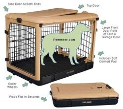 This is a great Plastic Portable Dog Crate - Metal Wire Folding Dog Crate