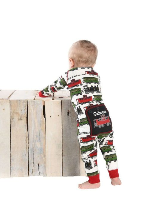 bc3a3db2f Train Caboose Flapjack Onesie Infant action