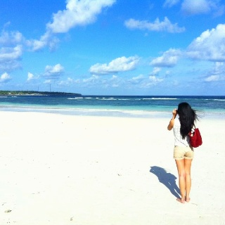 Beauty of the white sand Tanjung Bira, Makassar, South Sulawesi, Indonesia.