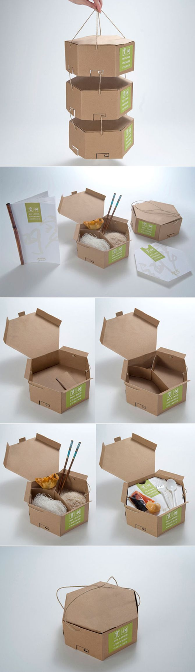 another great take-away #packaging #design and this one is #eco-friendly! Creative distinctive