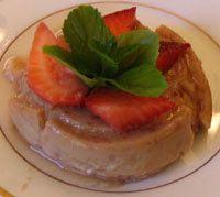 Flan de Fresas - Strawberry Flan