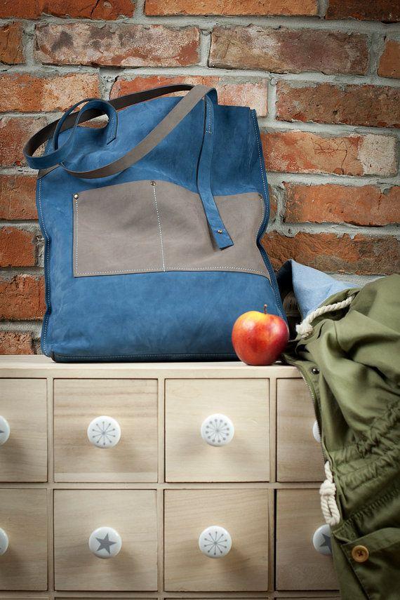 Lovely blue leather bag