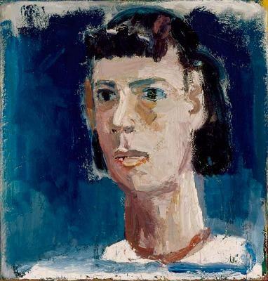 "David Park: Head of Lydia, 1953, oil on canvas, 25"" x 24"""