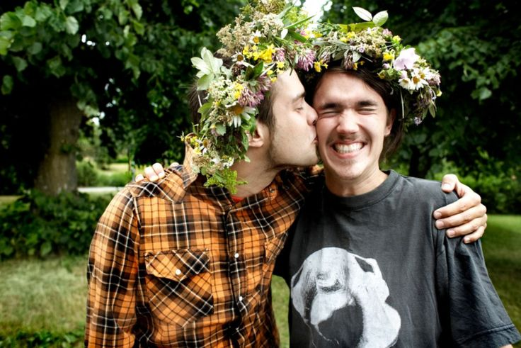 Normally reserved Swedes wear flowers in their hair on Midsummer's Eve. Photo Credit: Stefan Berg/imagebank.sweden.se.