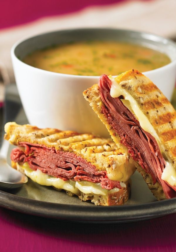Grilled Carnegie Sandwich - That's a Pastrami, Swiss, Mustard, Dill Pickle Grilled Cheese Sandwich to the uninitiated